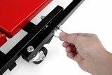 Rolbed, rood, rolwagen, sleutelwagen, monteurskar, werkkruk_