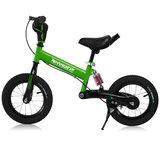 Kinder loopfiets groen met oefenzadel_