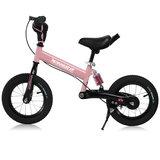 Kinder loopfiets roze met oefenzadel_
