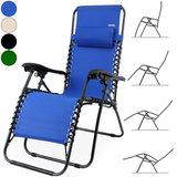 ''Tweede kans artikel'' Luxe inklapbare ligstoel, blauw_