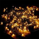 Lichtketting, 160 LED, kerstverlichting, feestverlichting, warmwit licht, op batterijen_