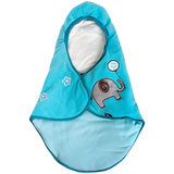 Babydeken met voetenzak, blauw, gevoerd_