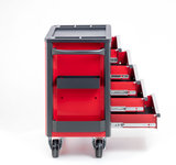 Gereedschapswagen met 5 laden - Rood/Zwart serie 98_