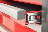 Gereedschapswagen met 7 laden - Rood/Zwart serie 98_