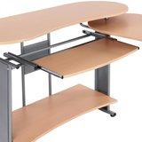 Bureau, computertafel, bureautafel, beuken, bureau, buro, schrijftafel, kantoormeubel_