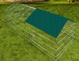 Konijnen ren, knaagdieren ren, 180 x 75, groene zonwering_