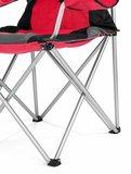 Campingstoel, vouwstoel, festivalstoel, klapstoel, rood, met bekerhouder, opbergtas_