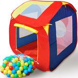 ''Tweede kans'' Kindertent, speeltent, ballenbak, inclusief 200 ballen_