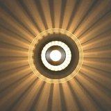 Plafondlamp, wandlamp, 40 watt, sfeerverlichting, glasplaat rond, plafondspot, muurspot_