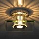 Plafondlamp, wandlamp, 40 watt, sfeerverlichting, glasplaat vierkant, plafondspot, muurspot_