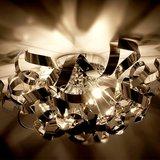 Plafondlamp, kroonluchter, decoratief, rvs, verchroomd_