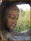 """Boeddha, Buddha, fontein, waterpartij, 90 cm, waterornament LED """"Tweede kans artikel""""_"""