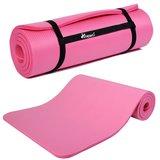 Yoga mat roze, 190x100x1,5 cm, fitnessmat, pilates, aerobics_