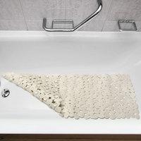 Antislip badmat room-wit,  36 x 70 cm