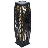 Solar tuinlamp wicker hoogte 80cm