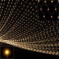 Lichtgordijn, lichtjes net, lichtnet, kerstverlichting, 120 x 120 cm, LED, netverlichting