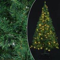 Kunst kerstboom, 180 cm, standaard, met verlichting, 120 x LED