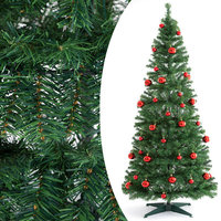 Kunstkerstboom pop-up, 180 cm, met decoratie en verlichting