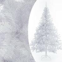 Kunstkerstboom, wit, 150 cm, kerstboom, met standaard
