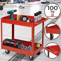 Gereedschapswagen, rood, werkplaatskar, gereedschapskar, werkplaatswagen