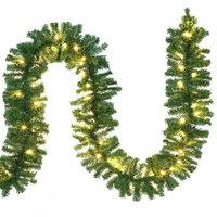 Kerstguirlande, 200x LED, slinger, 10m, kerstslinger, in/outdoor