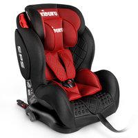 Autostoeltje rood met Isofix, meegroeistoel, kinderstoel, 9 kg - 36 kg, 1-12 jaar