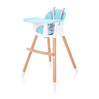 Kinderstoel, blauw, meegroeistoel, in hoogte verstelbaar, 2 in 1