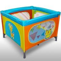 Vierkant kinder reisbed, inklapbare box, campingbedje - Crazy Zoo uitvoering