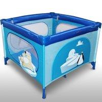 Vierkant kinder reisbed, inklapbare box, campingbedje - Ice cube uitvoering