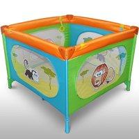 Vierkant kinder reisbed, inklapbare box, campingbedje - Savannah Friends uitvoering