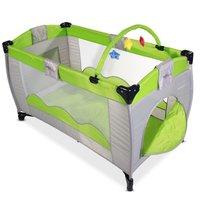 Praktisch kinder reisbedje, campingbedje met speelboog - Groen