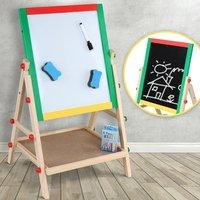 Kinder tekenbord 2 in 1, zowel krijtbord als magnetisch whiteboard, klapbord