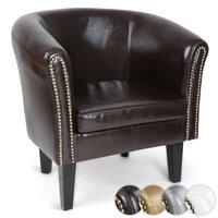 Chesterfield fauteuil met spijkerkoppen, zetel, stoel in 4 kleuren