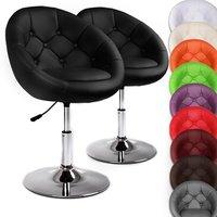 Set van 2 draaibare Chesterfield lounge stoelen in 10 verschillende kleuren