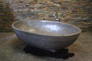 Terrazzo natuurstenen vrijstaand bad Ovaal