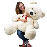 Teddybeer 100 cm, Valentijnsdag, knuffelbeer, Teddy XL, knuffel, beer wit