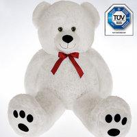 Teddybeer 56 cm, Valentijnsdag, knuffelbeer, Teddy L, knuffel, beer wit