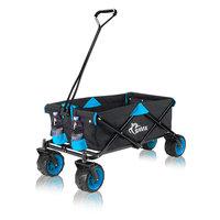 Bolderkar, transportkar, opvouwbaar, zwart/ blauw, offroad