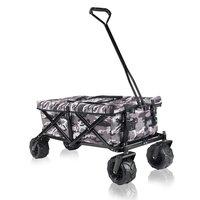 Bolderkar met afdekhoes, transportkar, opvouwbaar, camouflage, offroad