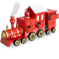 Advent kalender locomotief met lades, trein advent kalender