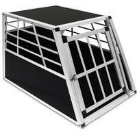 Hondentransportbox, hondenbox, Aluminium, afsluitbaar 69x54x50cm