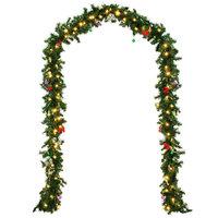 Kerstslinger voor binnen & buiten met 80 led lampjes en decoratie - 5 meter