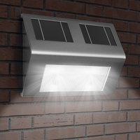 Solar wandlamp, buitenlamp, RVS