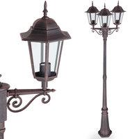 Buitenlamp, tuinlantaarn, staande lamp, Brons kleurig