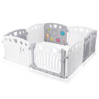 Grondbox, kruipbox, speelbox, playpen, baby, peuter en kind afscherming - Grijs Wit