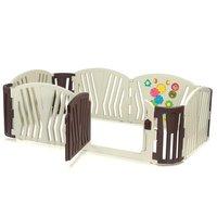 Grondbox, kruipbox, speelbox, playpen, baby, peuter en kind afscherming - Bruin