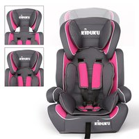 Autostoeltje, kinderzitje, grijs/roze, kinderstoeltje