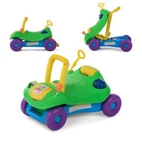 2 in 1 loopwagen en loopauto in groen
