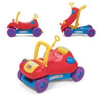 2 in 1 loopwagen en loopauto in rood