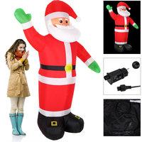 Kerstman opblaasbaar, verlicht met LED, zelfopblazend, voor binnen en buiten, 250 cm hoog